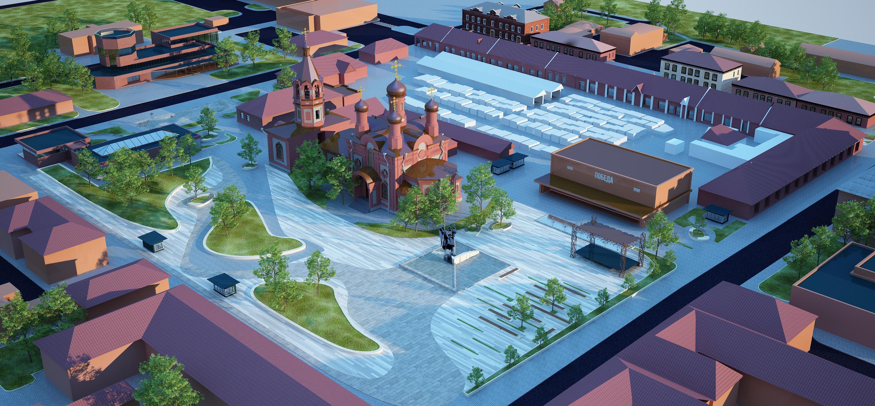 Реконструкция соборной площади в старой части г. Борисова